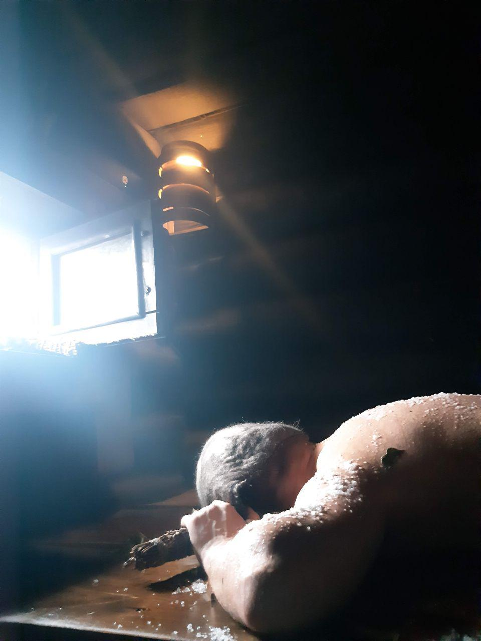 солевое выкатывание в бане по-черному Минск